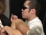 asian, cums, eating, fucked