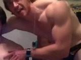 handjob, handsome, muscular