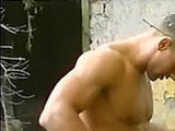 anal clips, hardcore, muscular, outdoors