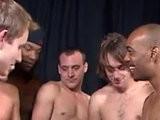 blonde, bukkake boy, interracial, movietures